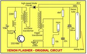 3 Different Xenon Flashing Circuits - Led And Light Circuit - Circuit Diagram