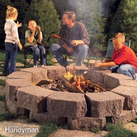backyard pits can i use brick retaining wall blocks