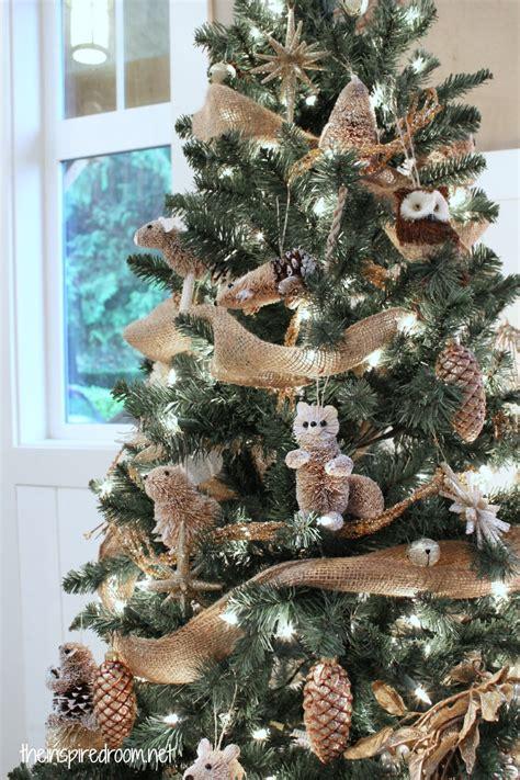 woodland christmas tree reveal  inspired room
