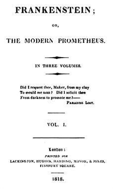 frankenstein ou le promethee moderne resume par chapitre frankenstein ou le prom 233 th 233 e moderne le de 1818