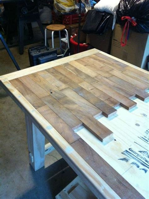diy wood plank kitchen table picture step  step cute