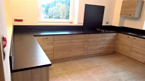 cuisine noir plan de travail bois plan de travail cuisine en granit plan de travail granit