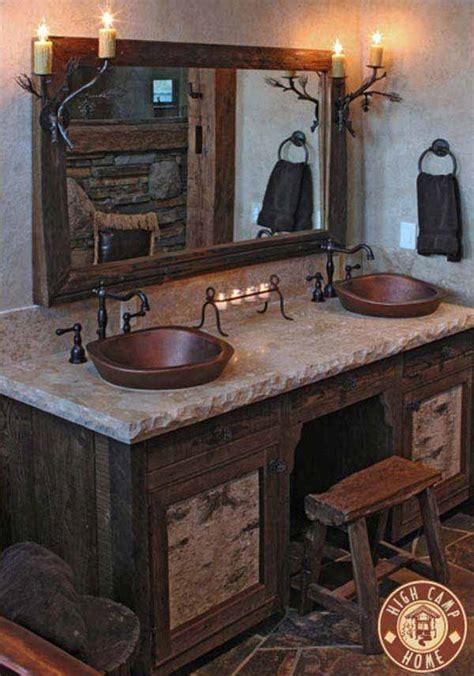 30 Inspiring Rustic Bathroom Ideas For Cozy Home  Amazing