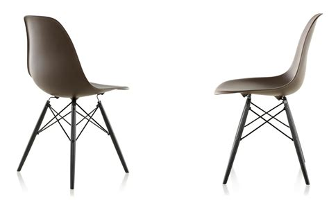 eames 174 molded plastic side chair with dowel base