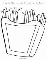 Coloring Fries Food Junk Kentang Pages Goreng French Favorite Colouring Print Outline Worksheets Cursive Twistynoodle Favorites Login Noodle Built California sketch template