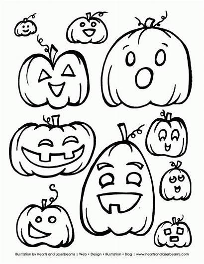 Halloween Coloring Printable Pages Pumpkins Jack Pumpkin