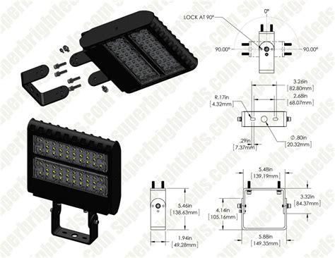 adjustable wall mount bracket for led shoebox area lights