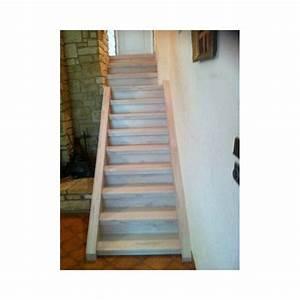 Escalier Droit Bois : escalier r nover droit bois et b ton 3 marches ~ Premium-room.com Idées de Décoration