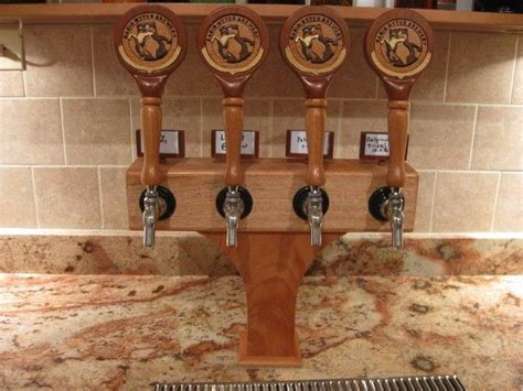 hand  custom intarsia tap handles  tower