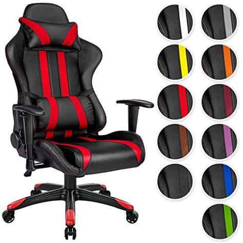 siege de bureau sport tectake chaise fauteuil si 232 ge de bureau racing sport ergonomique avec support lombaire et