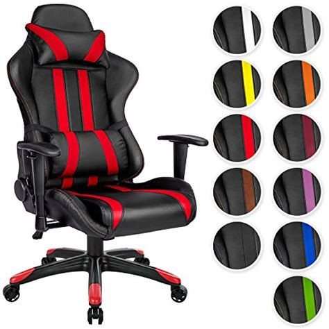 fauteuil de bureau baquet tectake chaise fauteuil siège de bureau racing sport