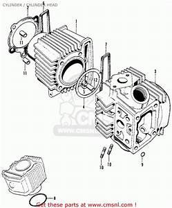 Honda Cl90 Scrambler 1967 Usa Cylinder    Cylinder Head