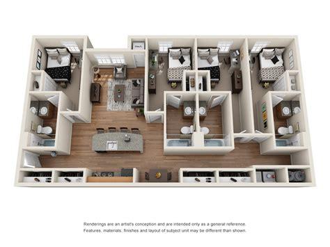 floor plans campus pointe apartments  kent ohio