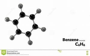 Molecular Structure Benzene C6h6 Stock Illustration