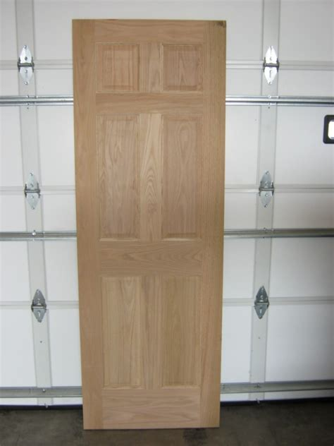 6 Panel Raised Solid Oak Entrance Door W Damaged Edge 30