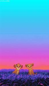 Simba and Nala... Loving. iPhone wallpaper | Disney ...