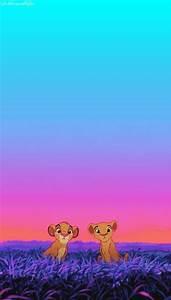 Simba and Nala... Loving. iPhone wallpaper   Disney ...