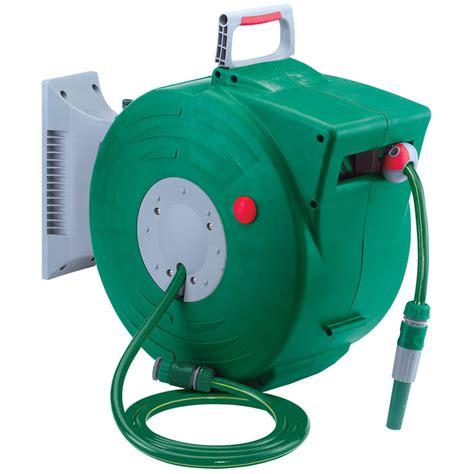 retractable garden hose draper 89210 grh1 20m retractable garden hose reel kit