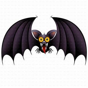 Halloween Bat Cartoon and Pumpkin by Bluedarkat | GraphicRiver