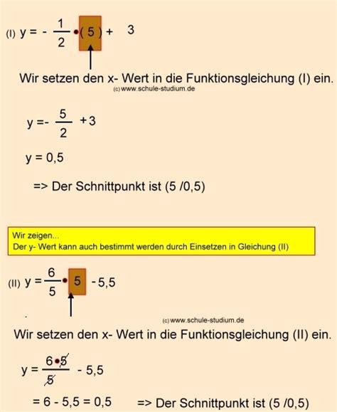 schnittpunkt berechnen quadratische funktion quadratische