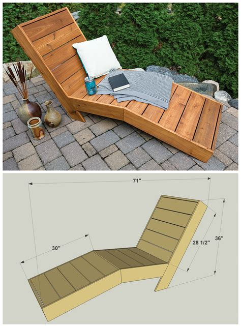 diy outdoor chaise lounge  plans  buildsomething