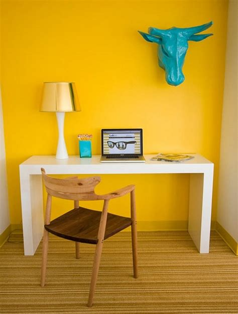 Yellow Office Desk by 20 Office Ideas For Your Home Inspiration And Ideas From