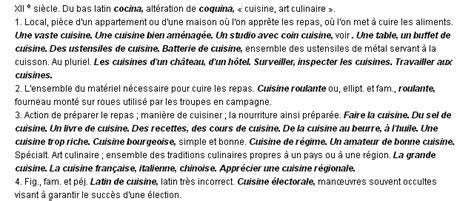 la cuisine definition cuisine la définition du terme quot cuisine quot
