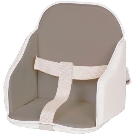 coussin chaise haute avec harnais coussin de chaise pvc gris blanc de candide sur allobébé