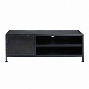 Meuble Tv Metal Noir : meubles tv et hifi maisons du monde ~ Teatrodelosmanantiales.com Idées de Décoration