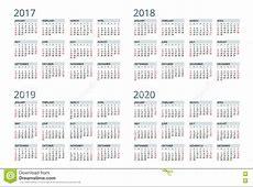 Calendrier Pour 2017, 2018, 2019, 2020 La Semaine Commence
