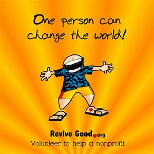 One person can change the world - Revive Good