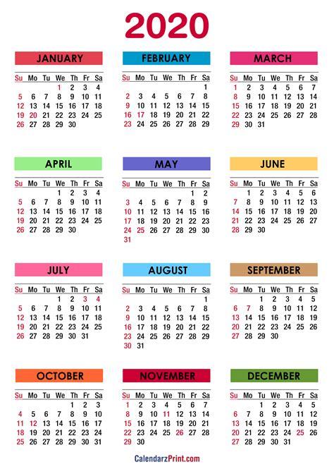 calendar  holidays printable  colorful