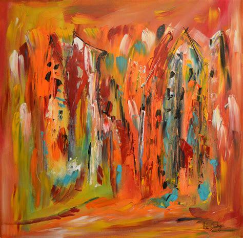 peinture contemporaine multicolore au couteau 224 peindre