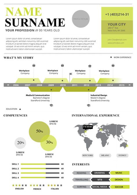 infographic resume template  shatterlioninfo