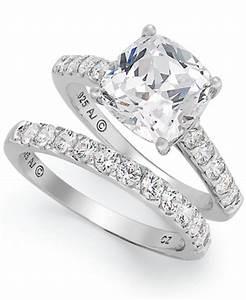 arabella sterling silver ring set swarovski zirconia With swarovski wedding ring sets