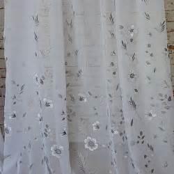 designer stoffe gardinenstoffe mit raffinierter stickerei in grau