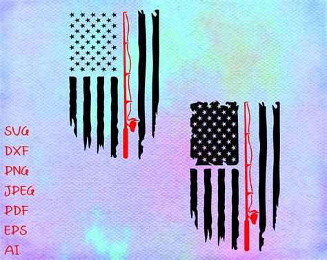 American Flag With Fish Svg  – 249+ SVG File for Silhouette