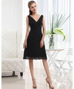 v neck allegra little black dress bridesmaid dress With little black dress for wedding