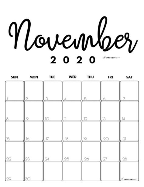 printable  calendar  month   cute colors