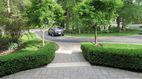 semi circle driveway landscaping formal hedges semi circle driveway traditional landscape toronto by inspiring spaces
