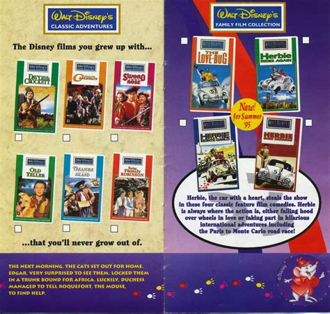disney vhs catalogue  page  uk disney
