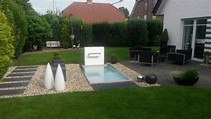 emejing terrassengestaltung mit wasserbecken gallery With französischer balkon mit wasserfall garten modern