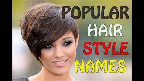 popular hairstyle names  hairstyle ideals  women