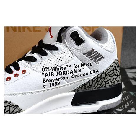 2018 Off White X Air Jordan 3 White Cement Free Shipping