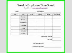 10 Free Printable Bi Weekly Time Sheets supplyletter