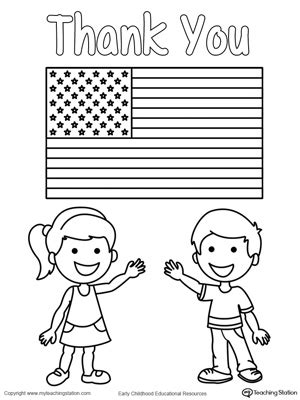 memorial day coloring pages memorial day thank you heros myteachingstation