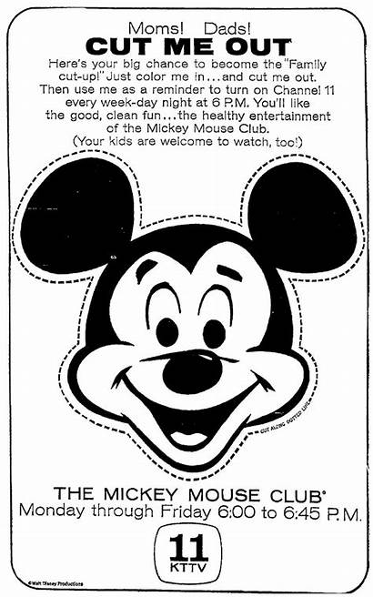 Mickey Mouse Fun Cut Paper Reminder 1963