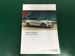 2015 Audi A3 Cabriolet Owner U0026 39 S Manual Guide Book