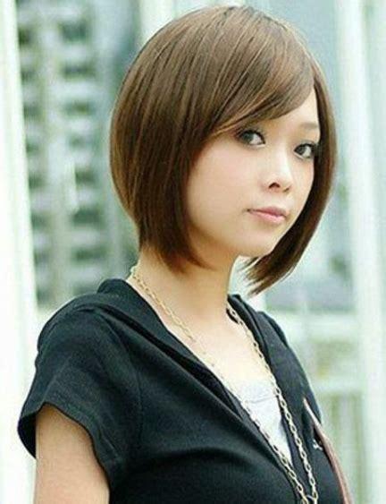 jenis gaya model rambut pendek sebahu  populer
