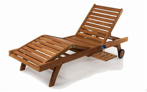 teak chaise lounge tl78